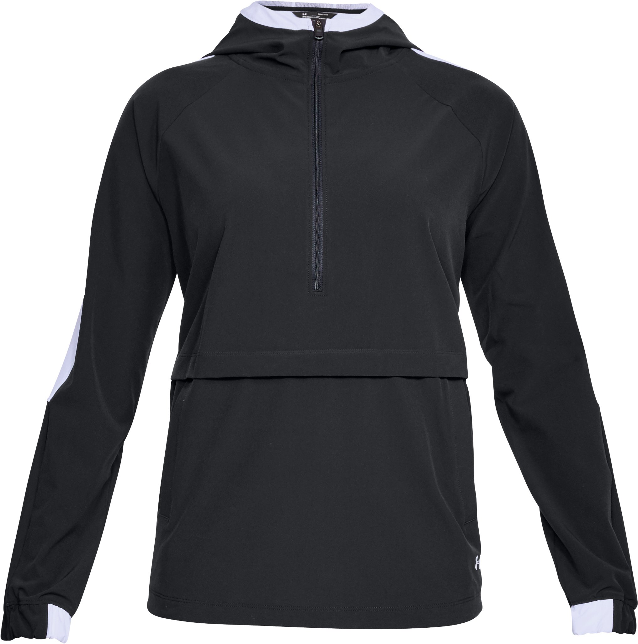 Women's UA Storm Woven Anorak Jacket, Black , undefined