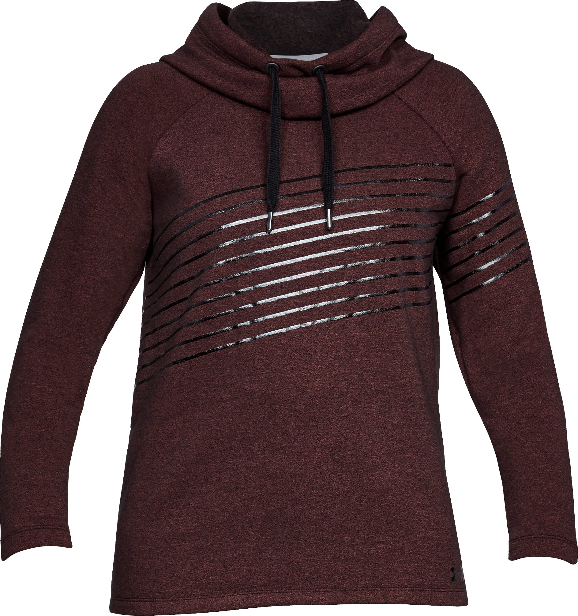 Women's UA Threadborne Fleece Fashion Hoodie, MARATHON RED,
