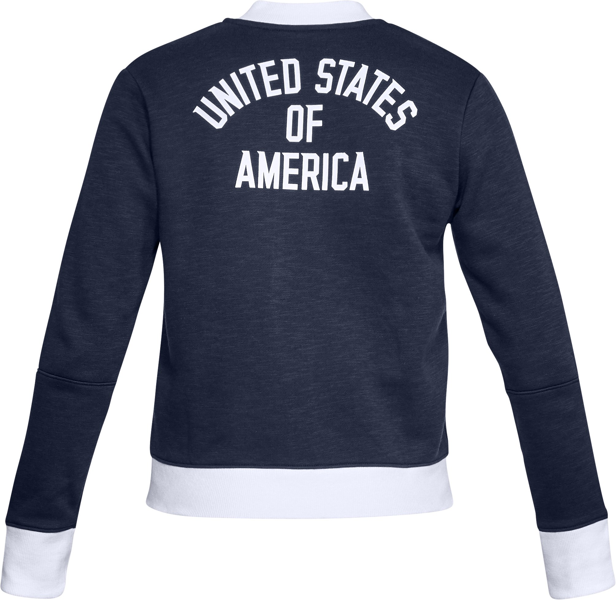 Women's UA Stars & Stripes Bomber Jacket, Midnight Navy, undefined