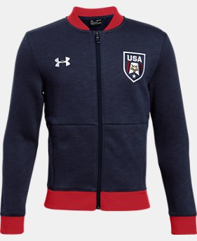 Boys' UA Stars & Stripes Bomber Jacket  1  Color Available $54.99
