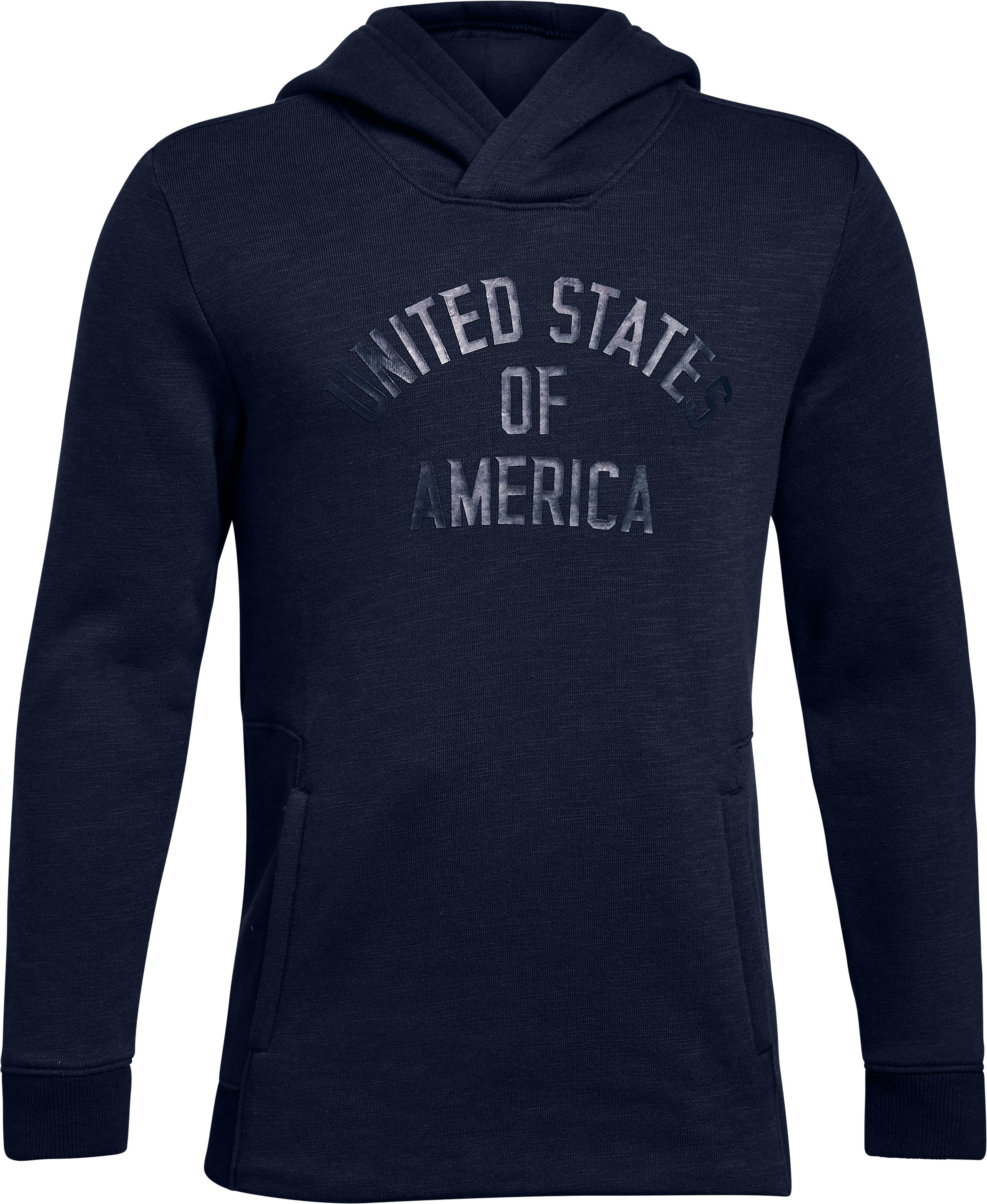 Boys' UA Stars & Stripes Hoodie, Midnight Navy,