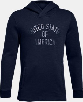 Boys' UA Stars & Stripes Hoodie  1  Color Available $49.99