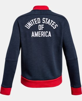 New Arrival Girls' UA USA Warm Up Jacket  1 Color $54.99