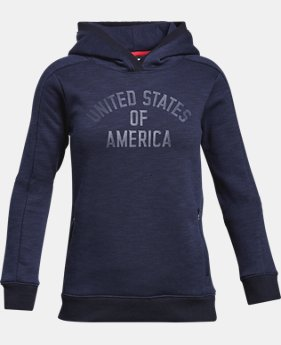 New Arrival Girls' UA USA Fleece Hoodie  1 Color $49.99