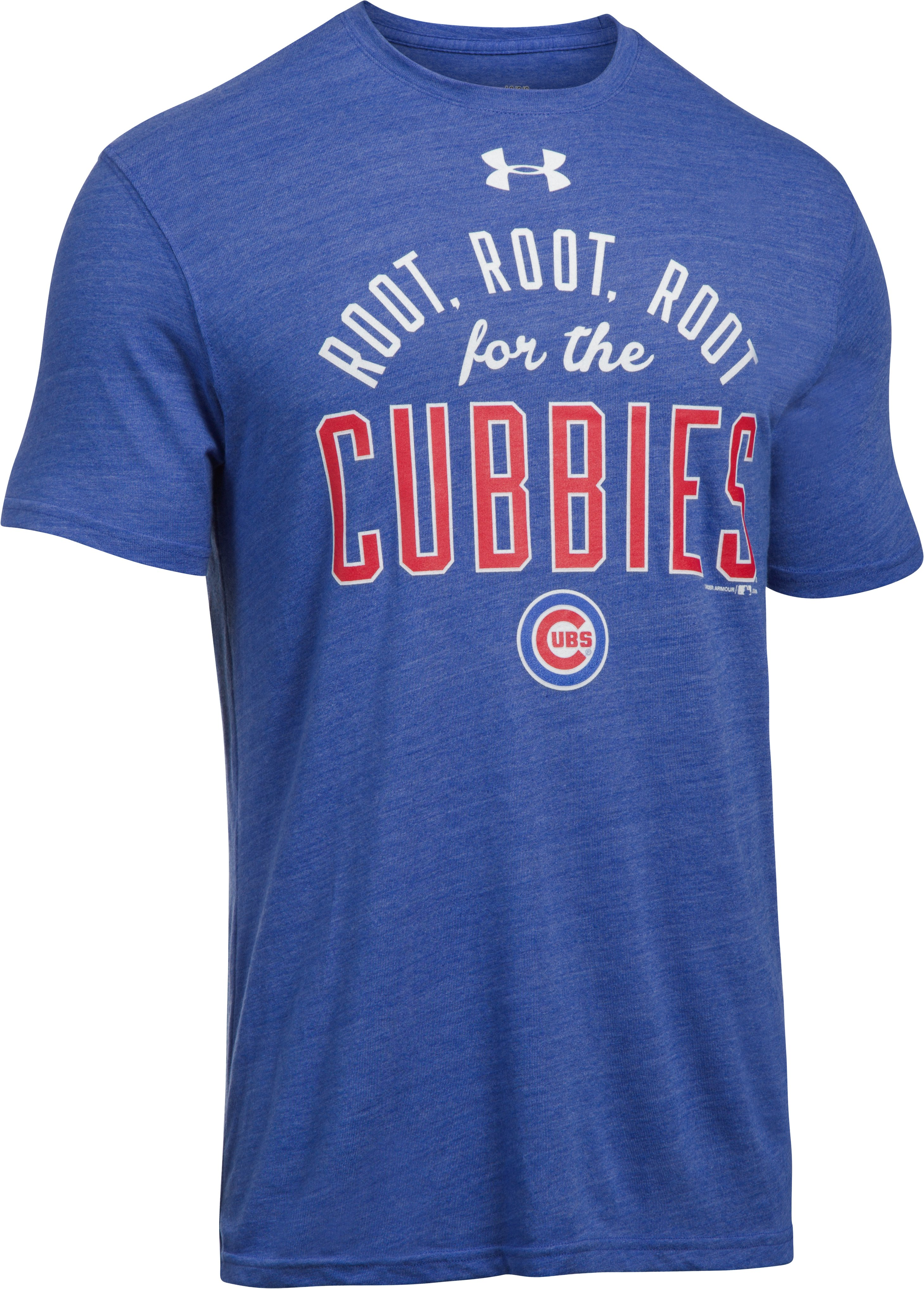 Men's Chicago Cubs Root Root Root for the Cubbies T-Shirt, Royal,