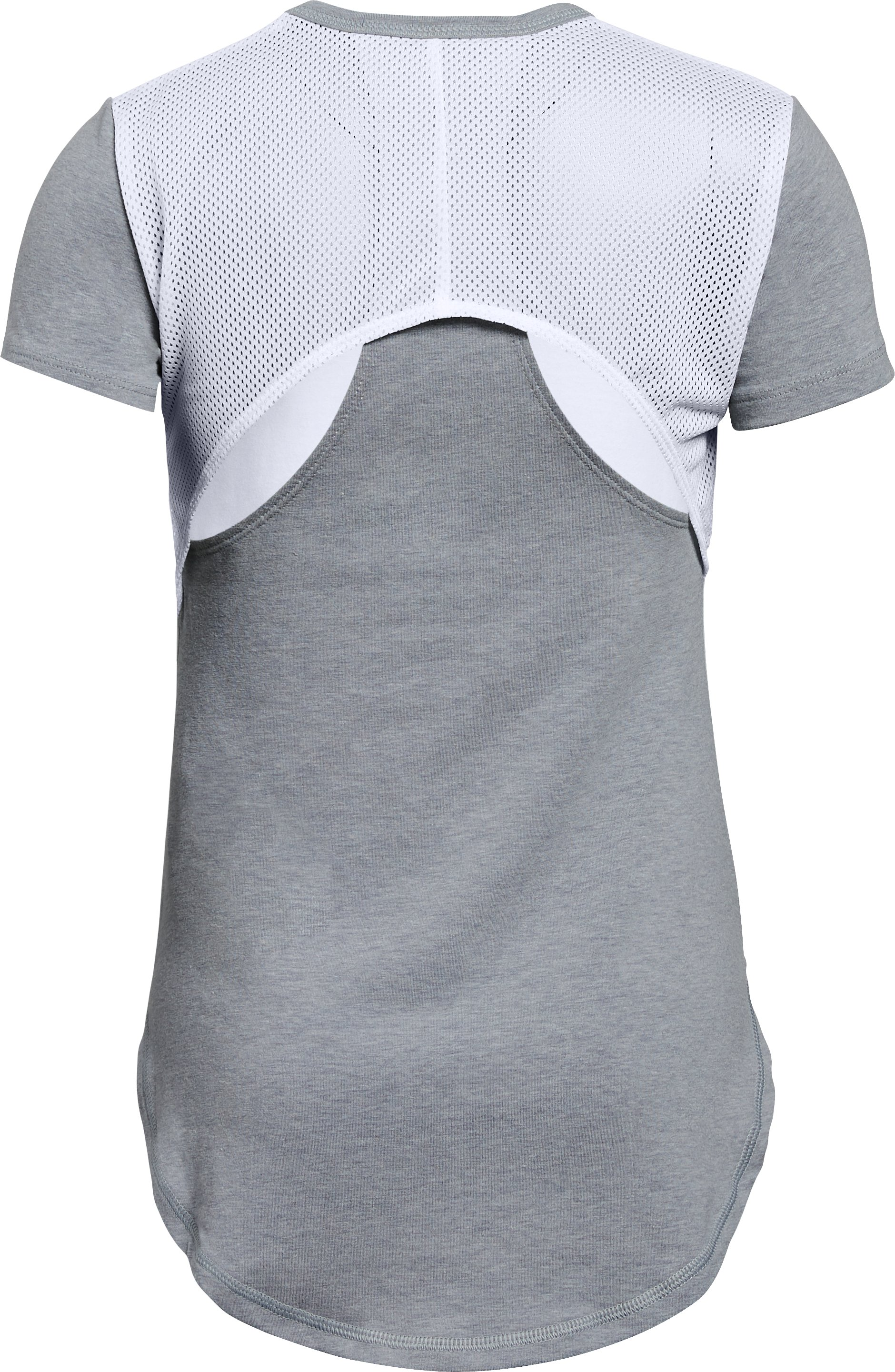 Girls' UA Finale Short Sleeve, White,