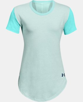 Girls' UA Finale Short Sleeve  1  Color Available $25