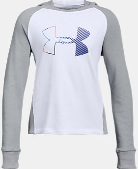 Girls' UA Microthread Terry Logo Hoodie  1  Color Available $45
