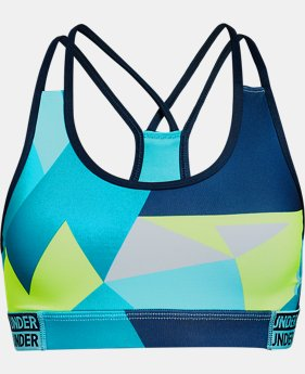 New Arrival Girls' HeatGear® Armour Printed Bra   $25