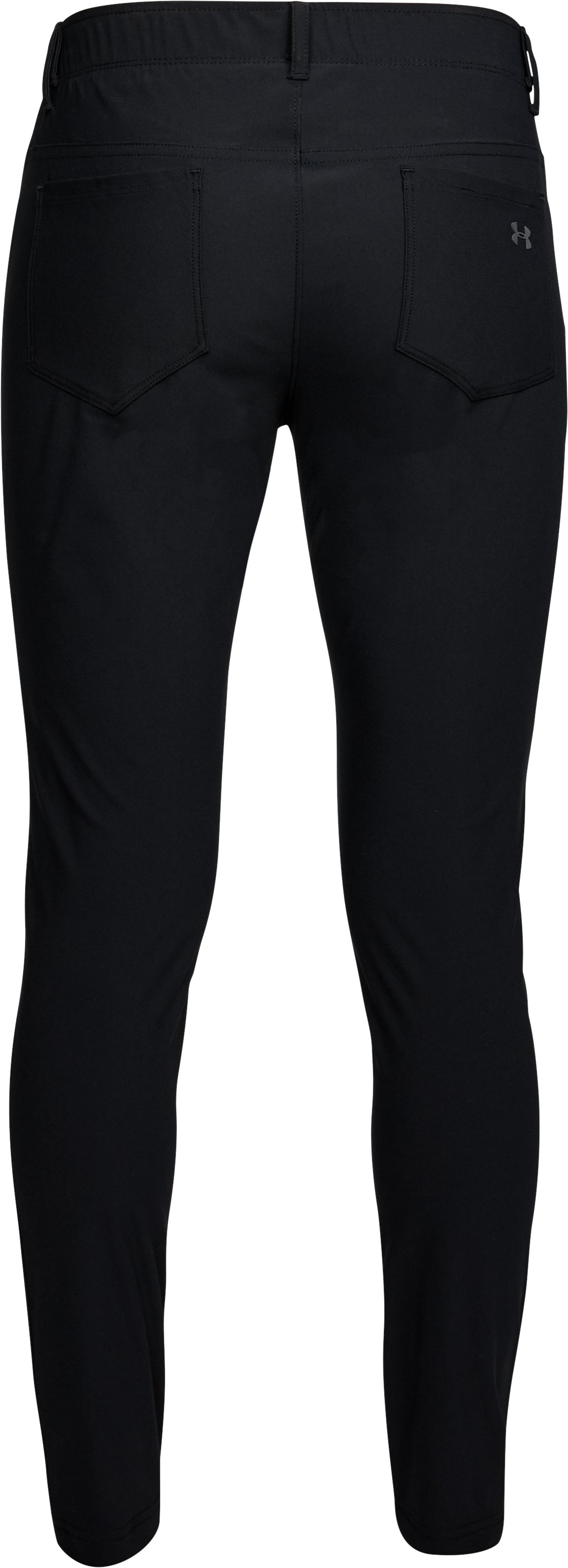 Women's UA Microthread 5-Pocket Pants, Black ,