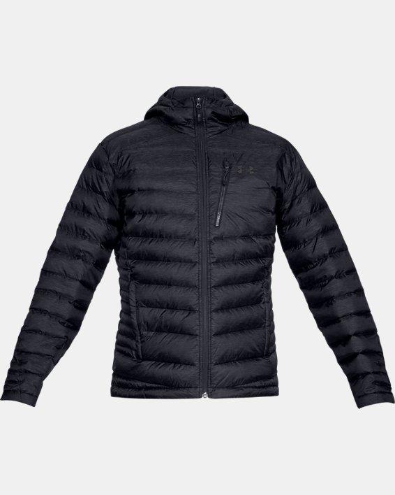 Men's UA Iso Down Hooded Jacket, Black, pdpMainDesktop image number 3