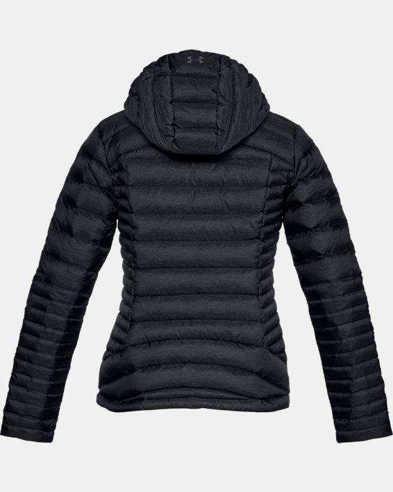 Women's UA Iso Down Hooded Jacket, Black, pdpMainDesktop image number 4