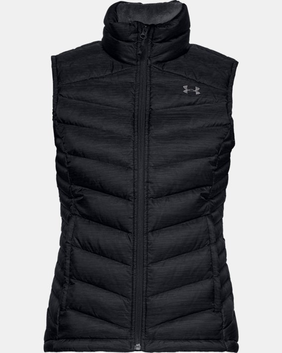 Women's UA Iso Down Vest, Black, pdpMainDesktop image number 3