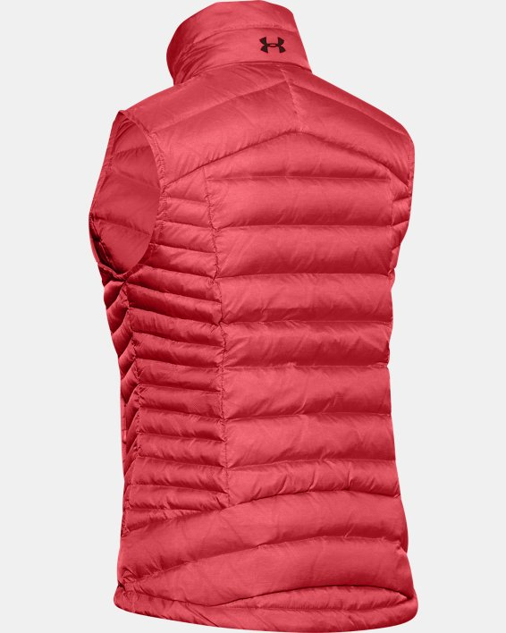 Women's UA Iso Down Vest, Orange, pdpMainDesktop image number 4