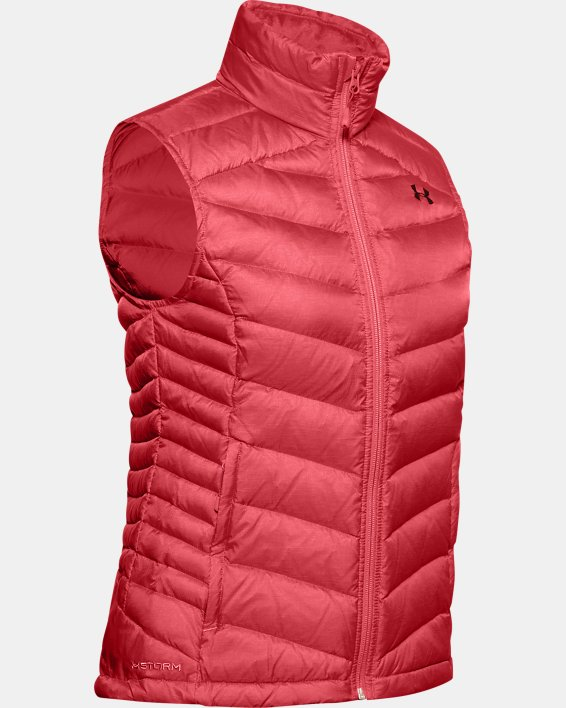 Women's UA Iso Down Vest, Orange, pdpMainDesktop image number 3
