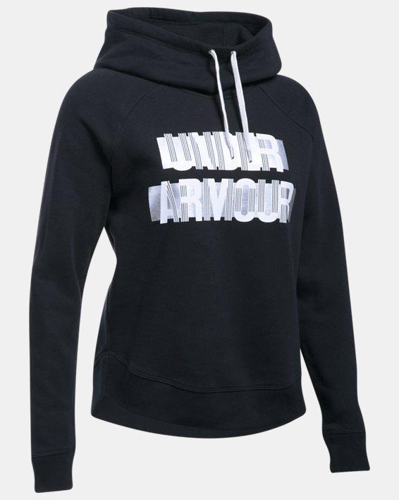 Women's UA Fashion Favorite Word Graphic Pullover, Black, pdpMainDesktop image number 3