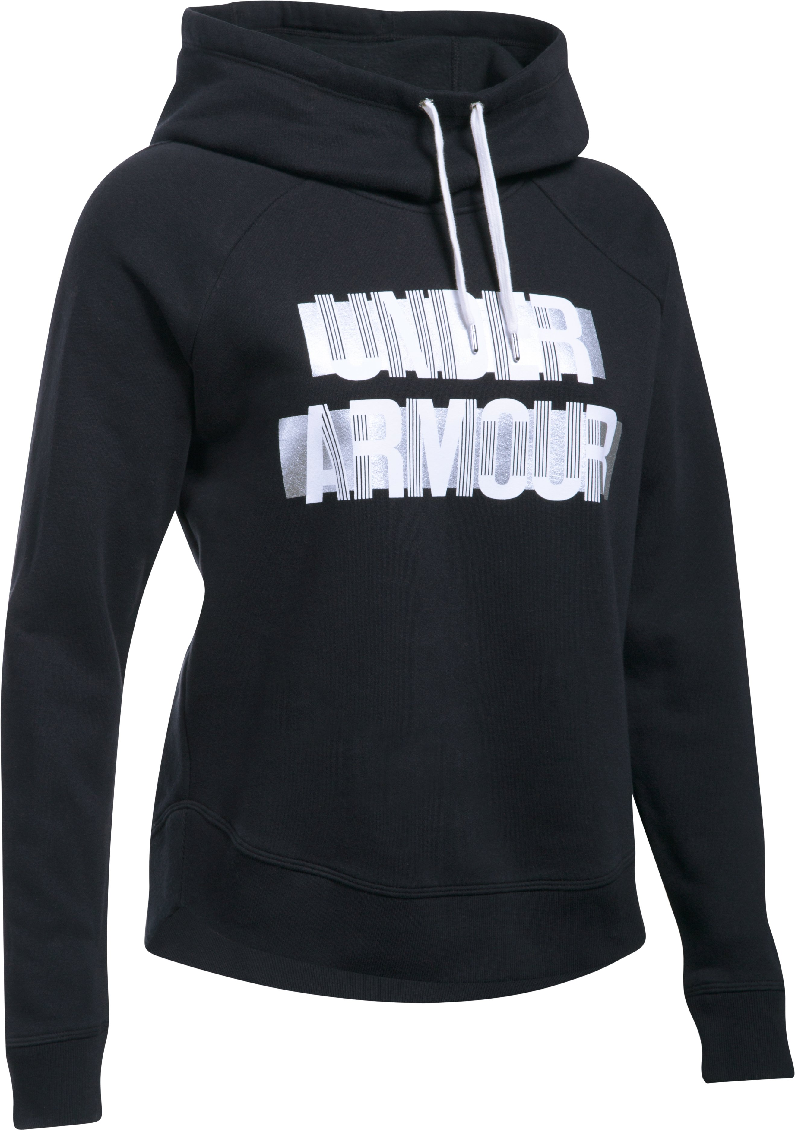 Women's UA Fashion Favorite Word Graphic Pullover, Black ,
