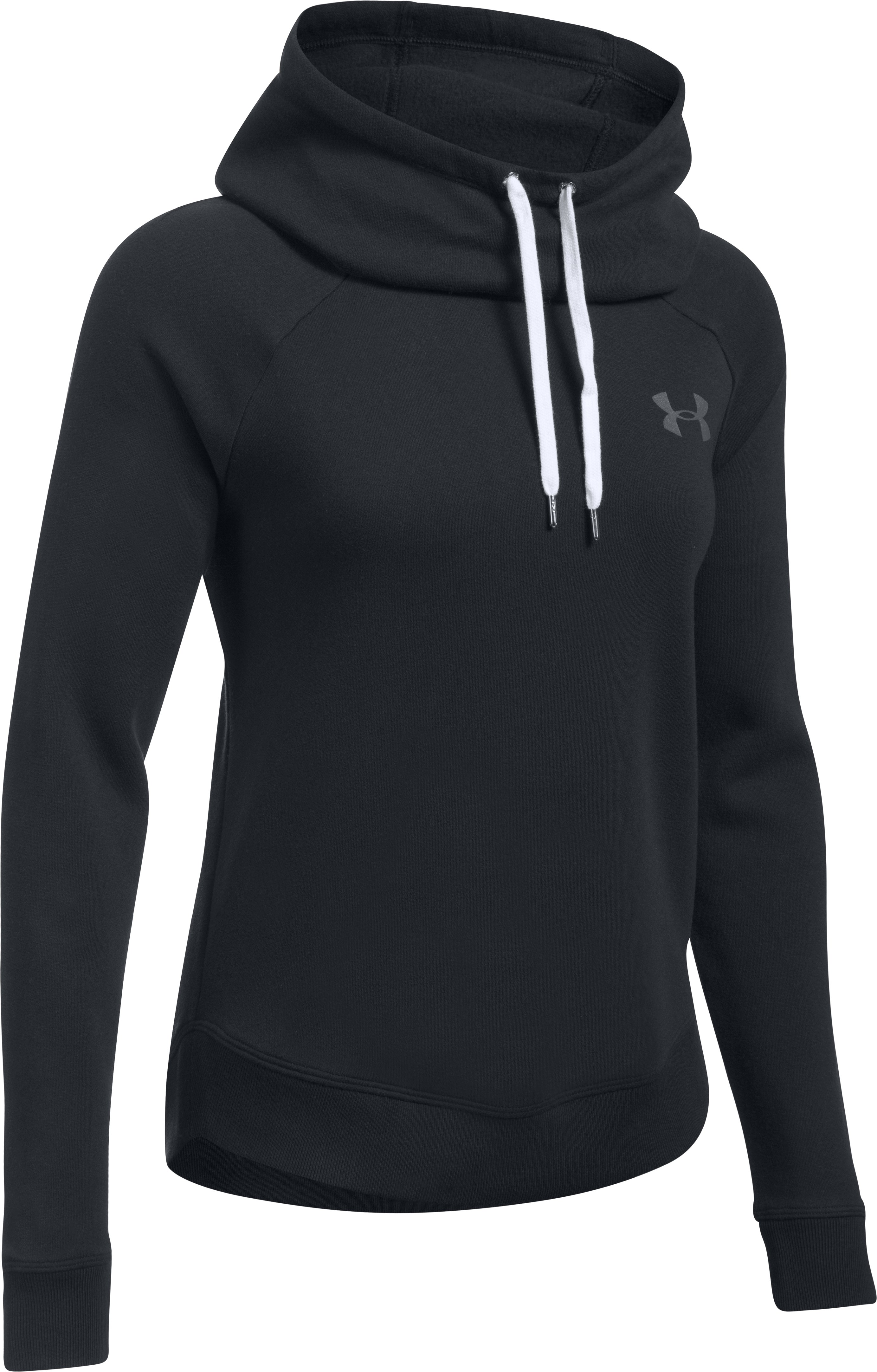 Women's UA Printed Favorite Pullover, Black ,