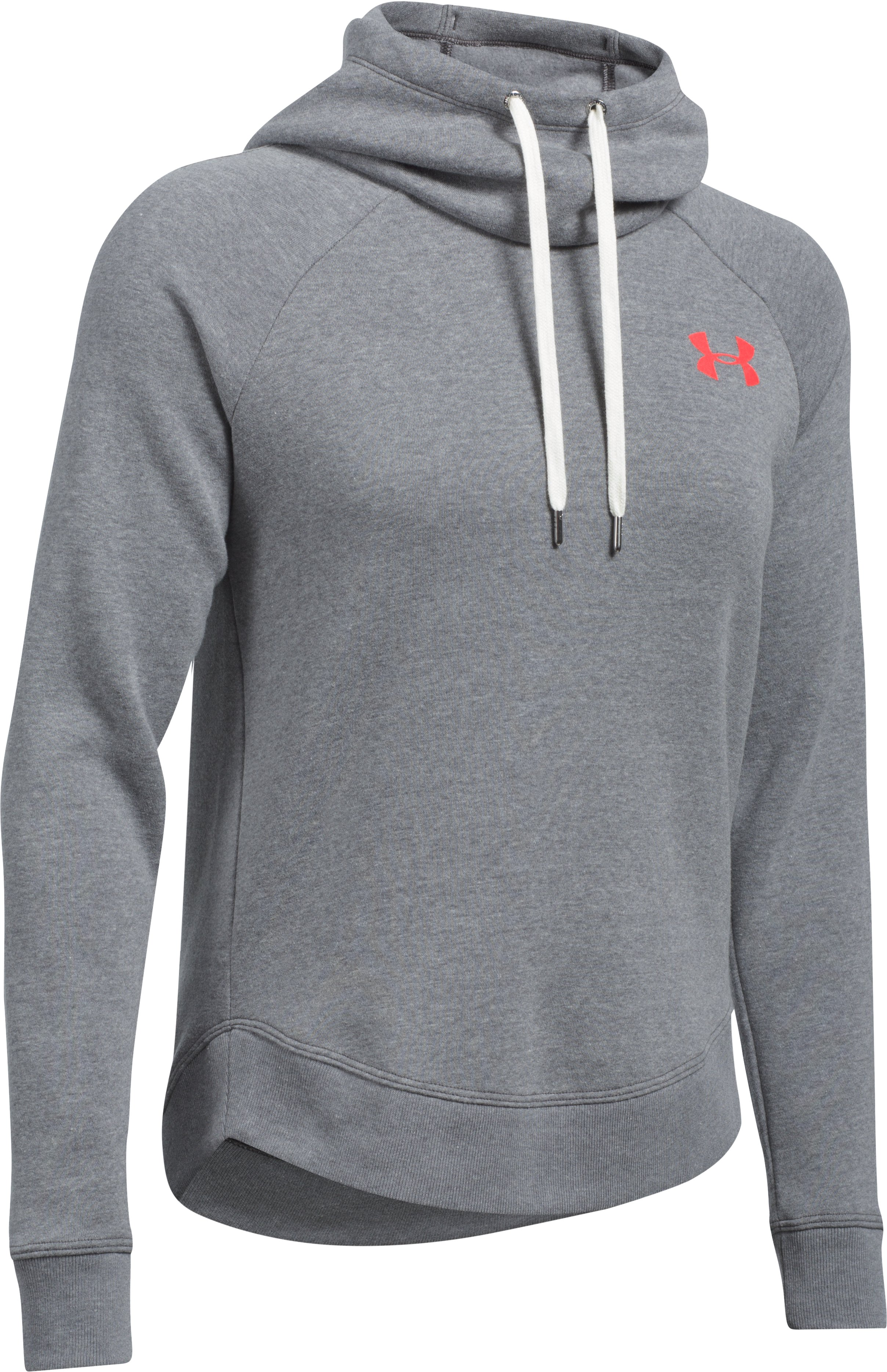 Women's UA Printed Favorite Pullover, Carbon Heather,