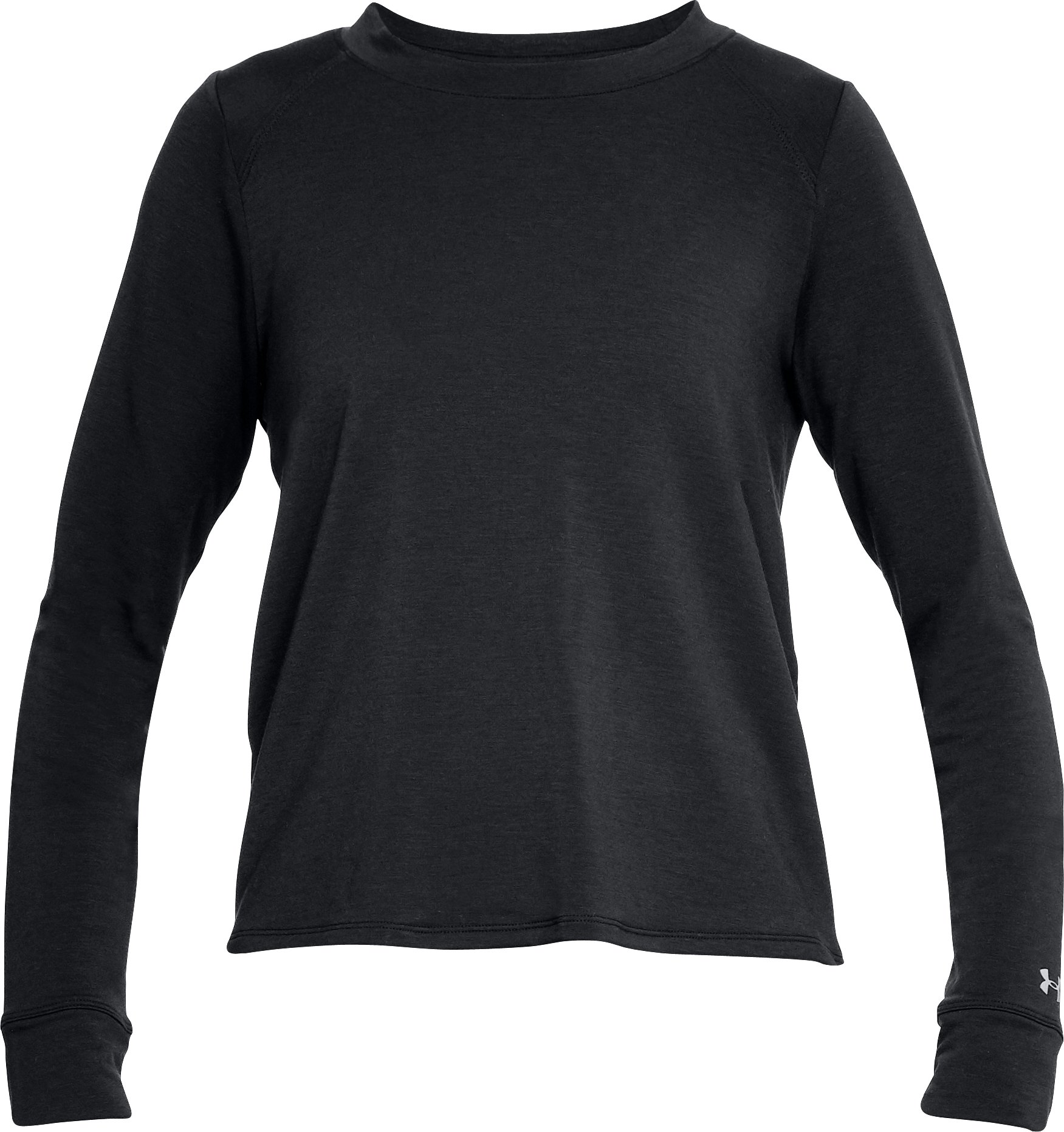 Women's UA Modal Terry Crew, Black ,