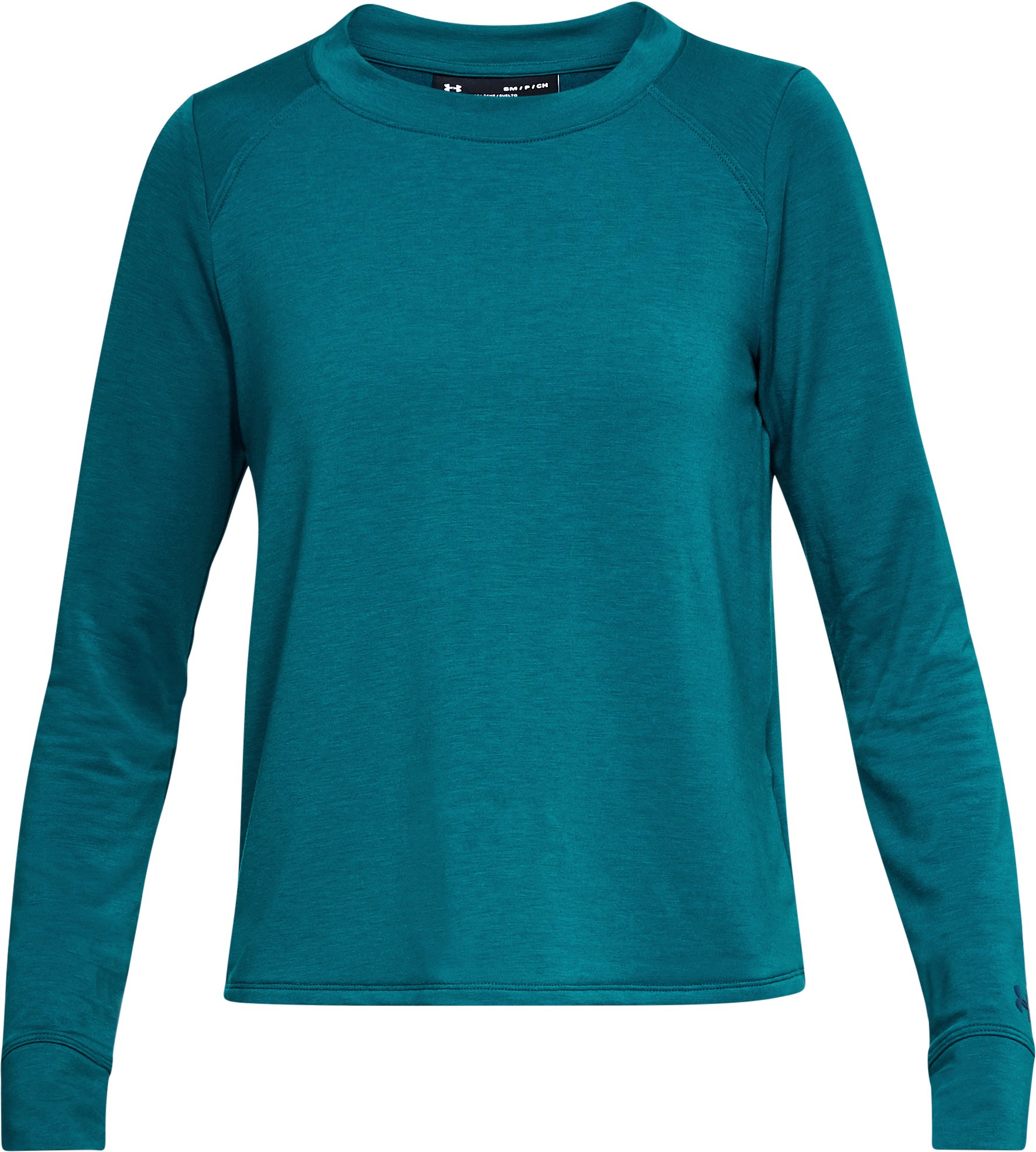 Women's UA Modal Terry Crew, TOURMALINE TEAL,
