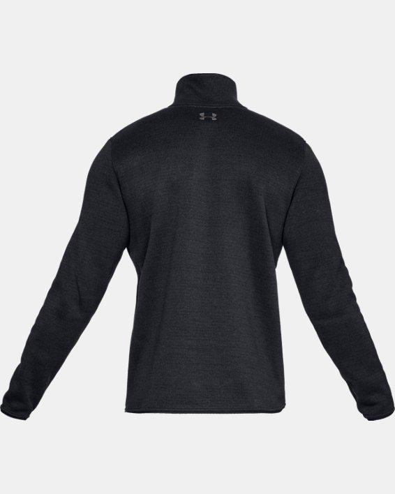 Men's UA Specialist Henley 2.0 Long Sleeve, Black, pdpMainDesktop image number 4