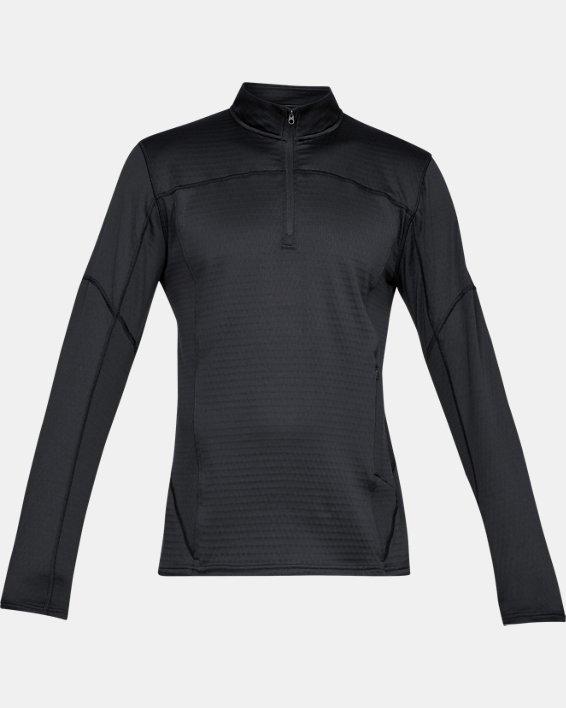 Men's UA Spectra ½ Zip, Black, pdpMainDesktop image number 3