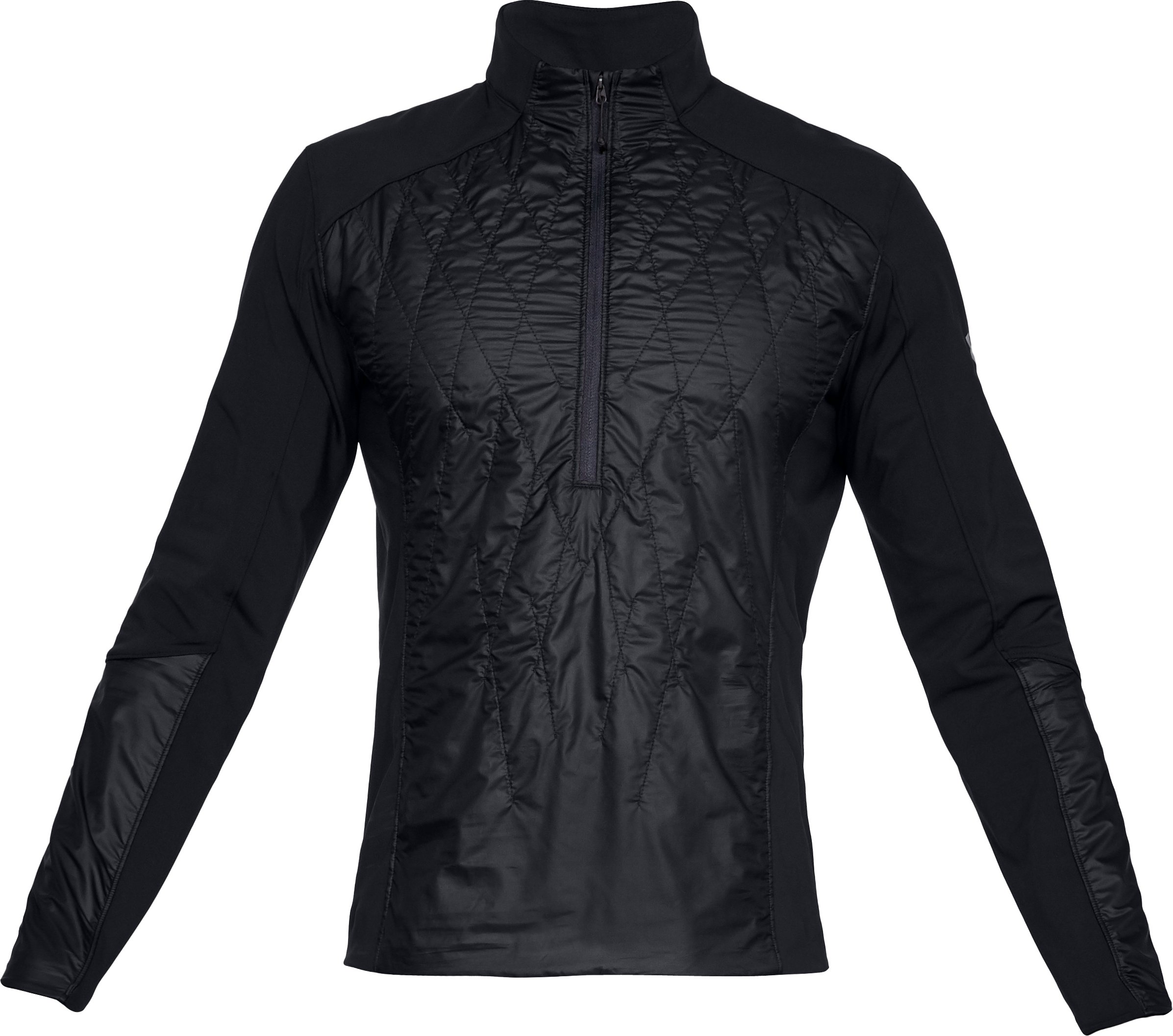 Men's UA Terrain Hybrid ½ Zip Jacket, Black ,