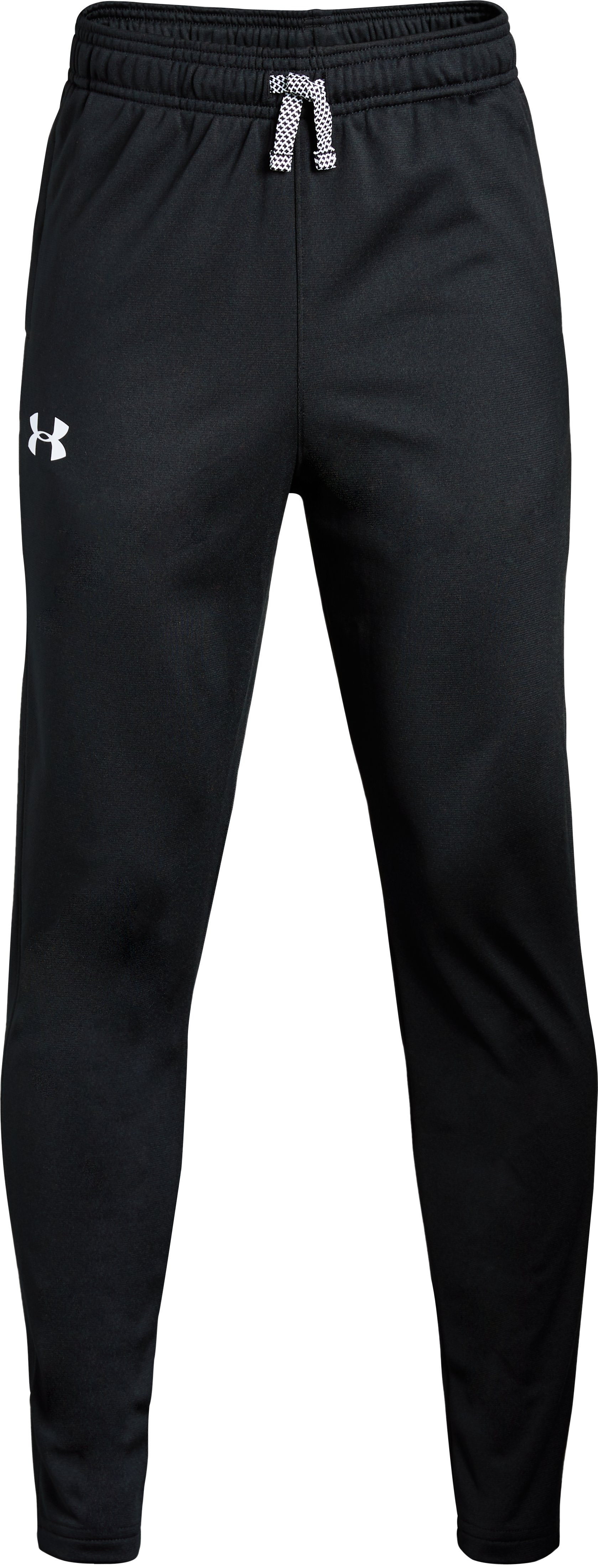 Boys' UA Brawler Tapered Pants, Black ,