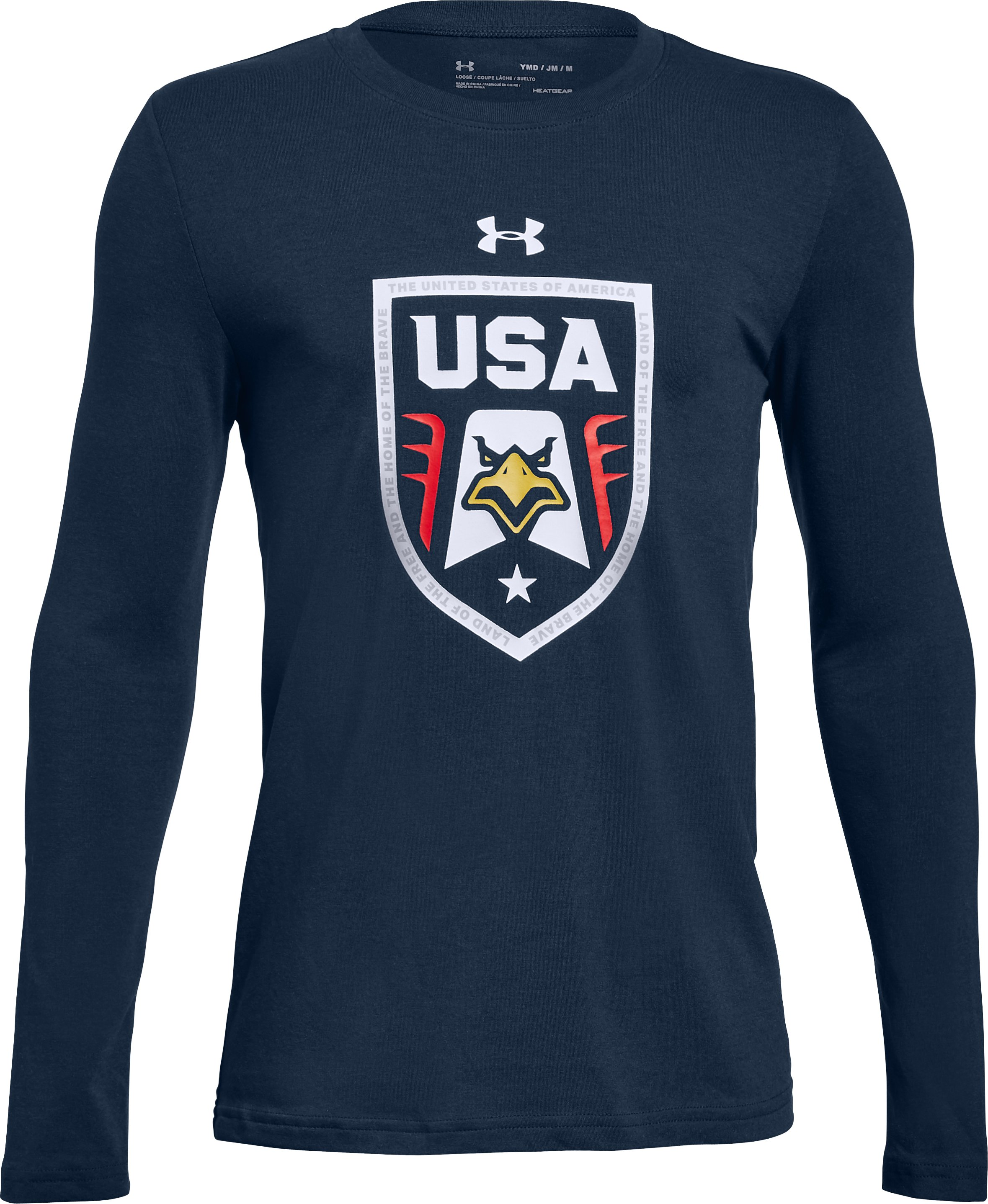 Boys' UA Stars & Stripes  Eagle Long Sleeve T-Shirt , Academy, undefined
