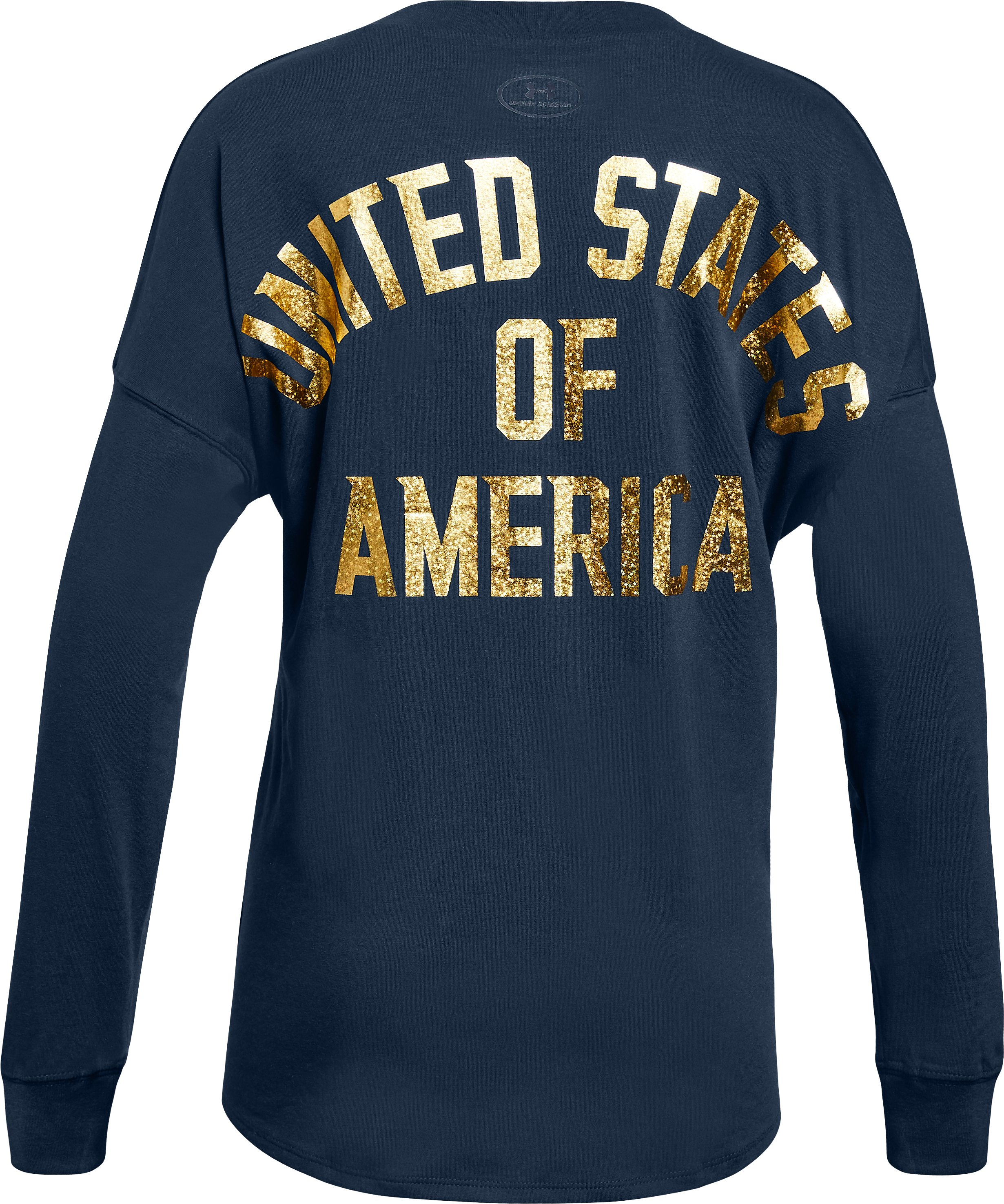 Girls' UA Stars & Stripes Long Sleeve , Academy, zoomed