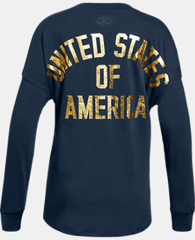 New Arrival Girls' UA Stars & Stripes Long Sleeve   1 Color $24.99