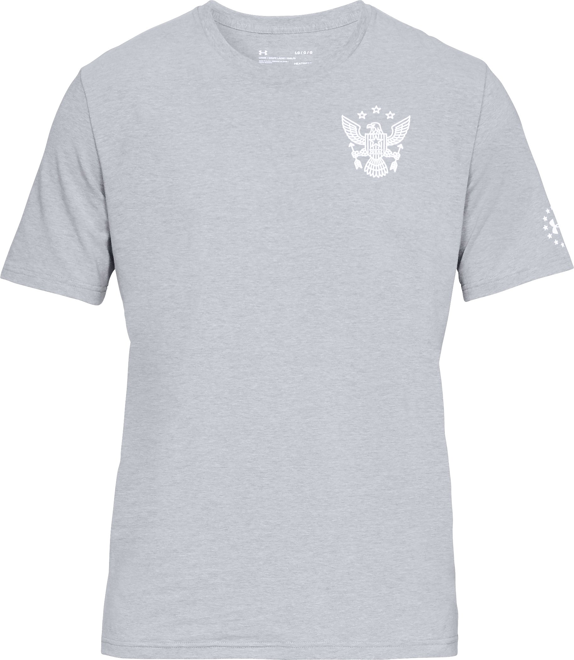 Men's UA Freedom Eagle Arrows T-Shirt, STEEL LIGHT HEATHER,