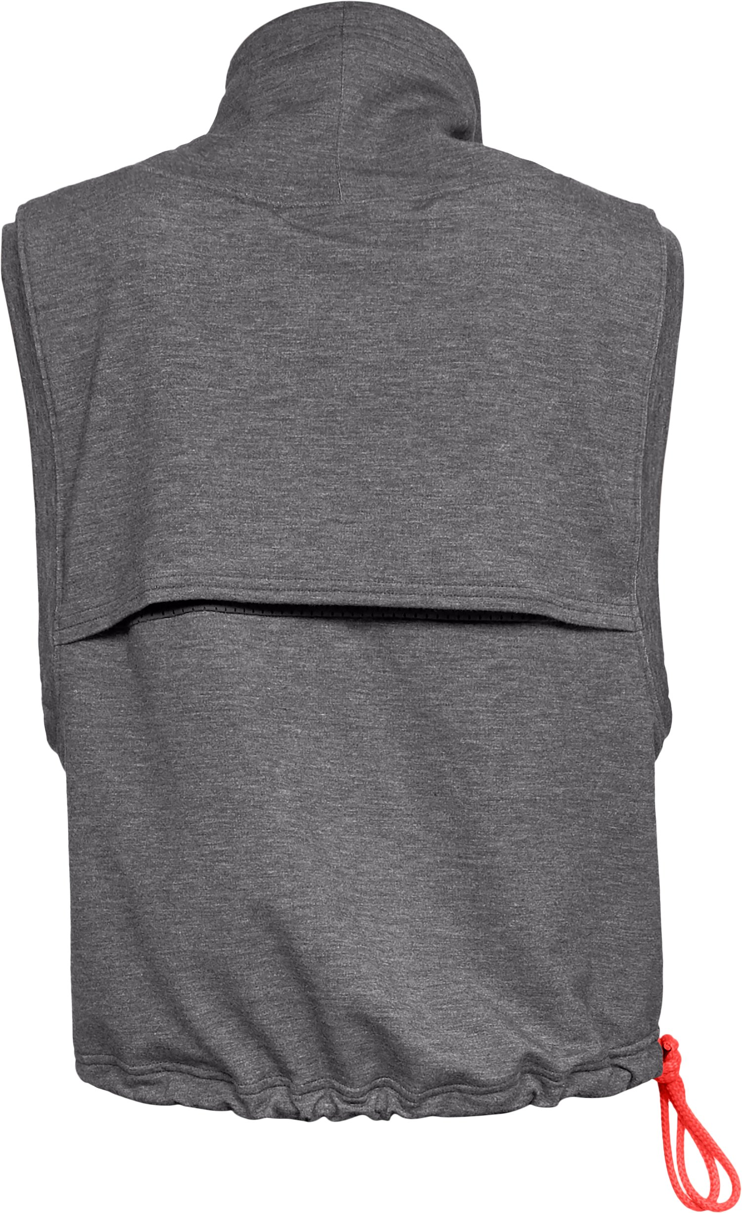 Women's UA Featherweight Fleece Sleeveless Funnel Neck, CHARCOAL MEDIUM HEATHER,