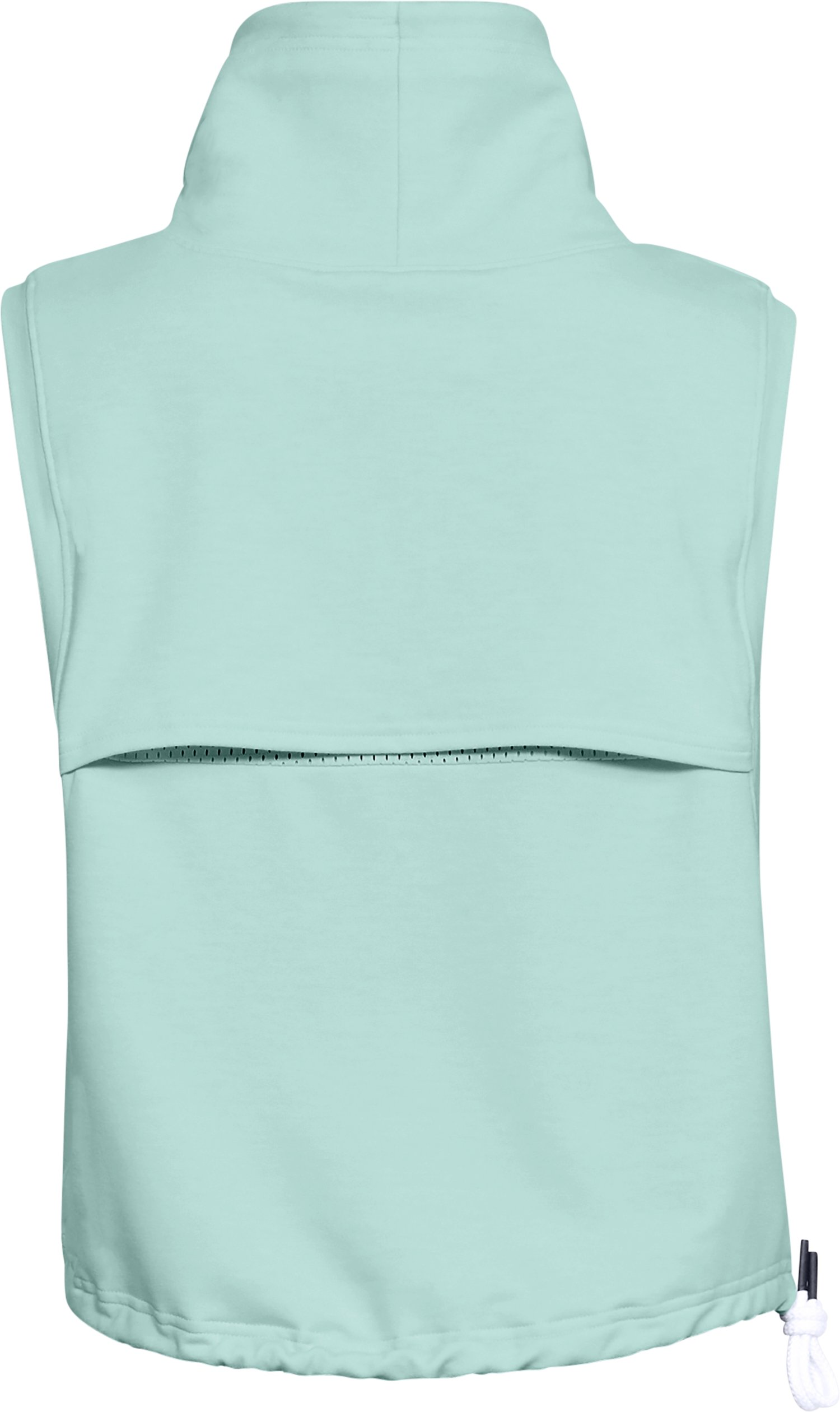 Women's UA Featherweight Fleece Sleeveless Funnel Neck, REFRESH MINT,