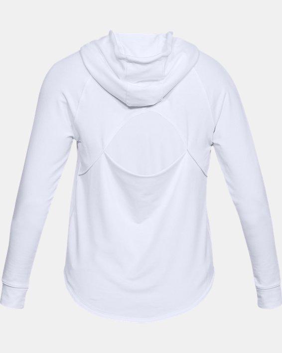Women's UA Featherweight Fleece Oversize Hoodie, White, pdpMainDesktop image number 5