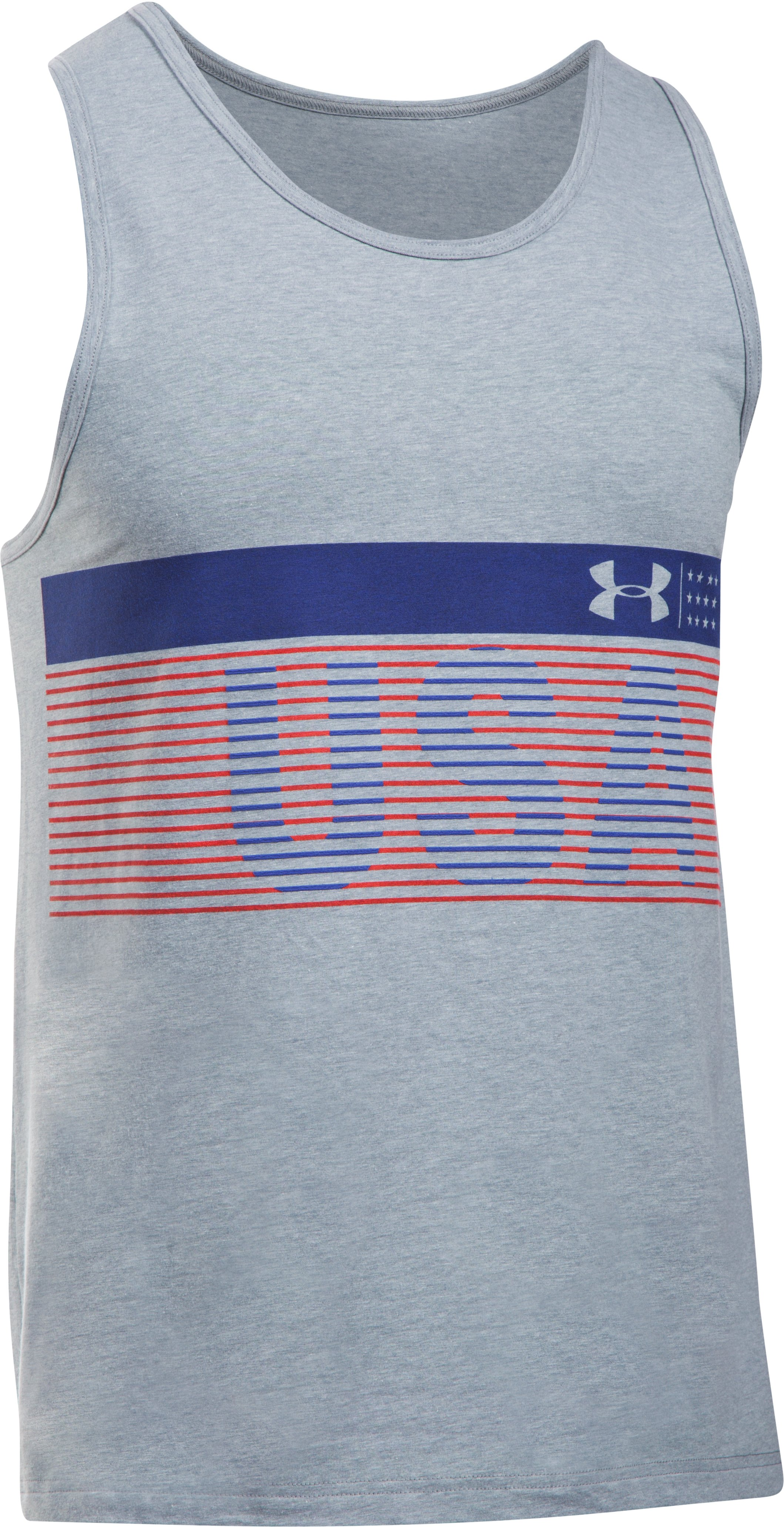 Men's UA Going the Distance Tank, STEEL LIGHT HEATHER, undefined