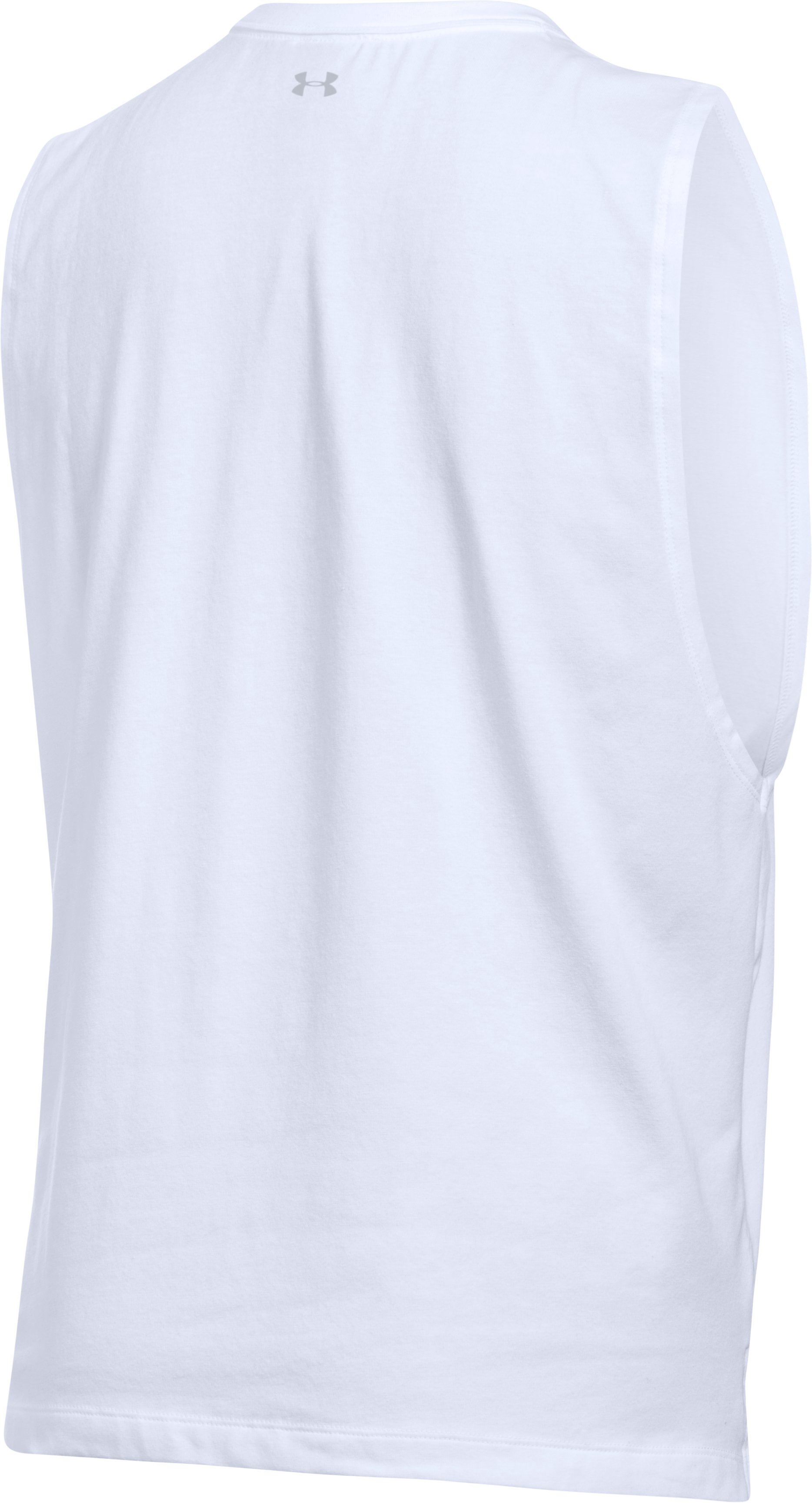 Women's UA Avocado Muscle T, White,