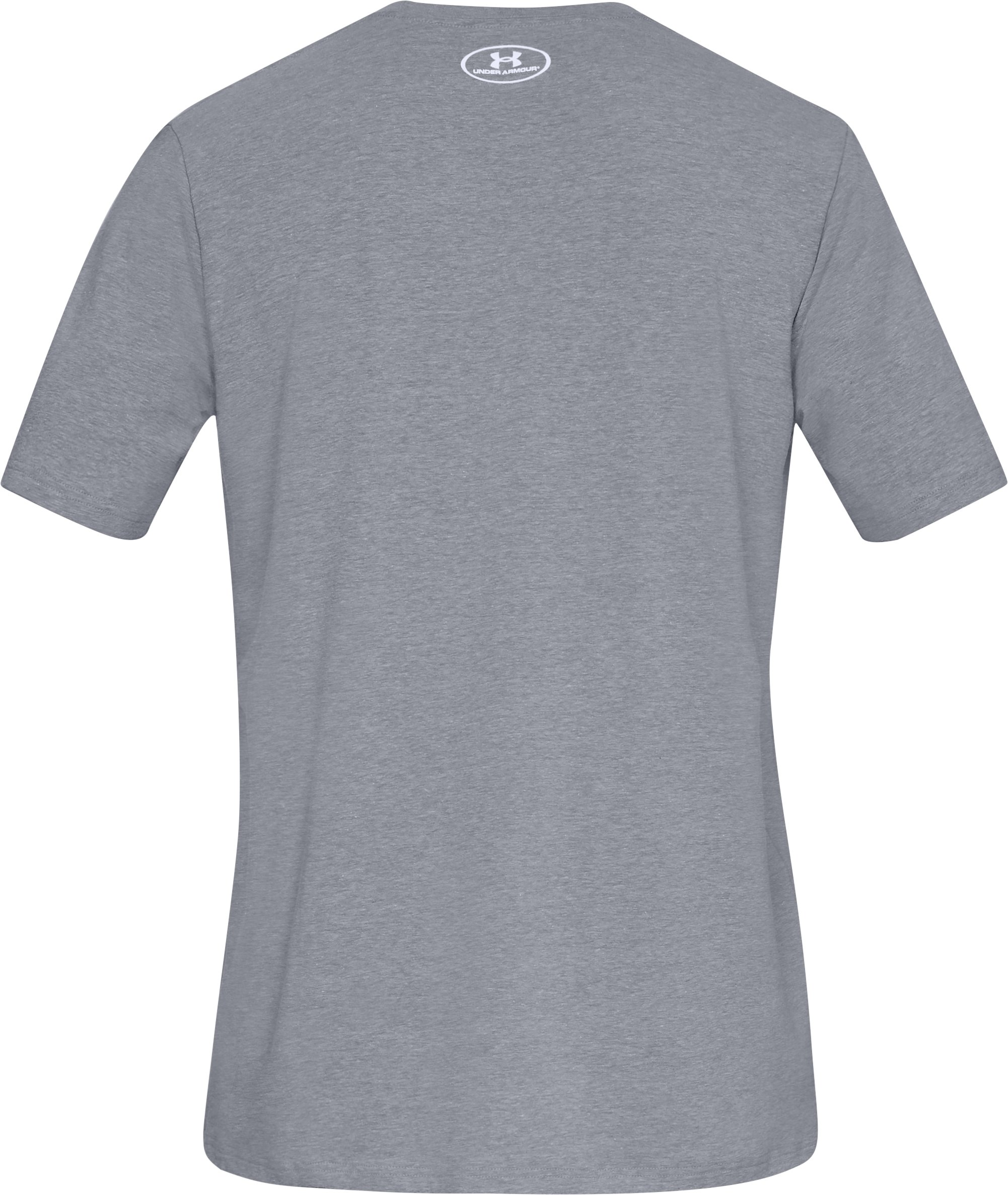 Men's UA Freedom Cannon T-Shirt, STEEL LIGHT HEATHER,