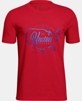 Boys' UA Freedom Verbiage T-Shirt  2  Colors Available $19.99 to $20
