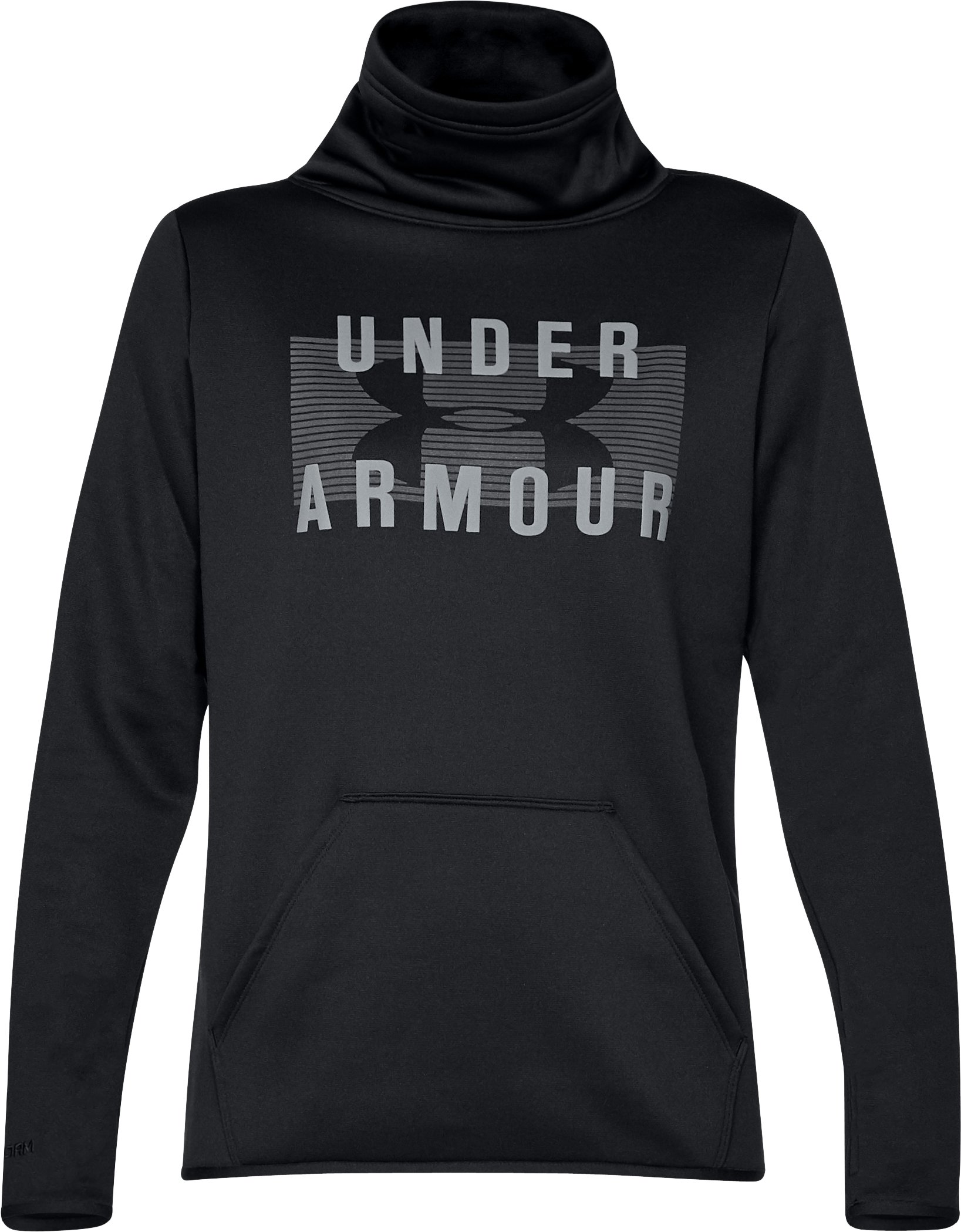 Armour® Fleece Graphic Pullover, Black , undefined