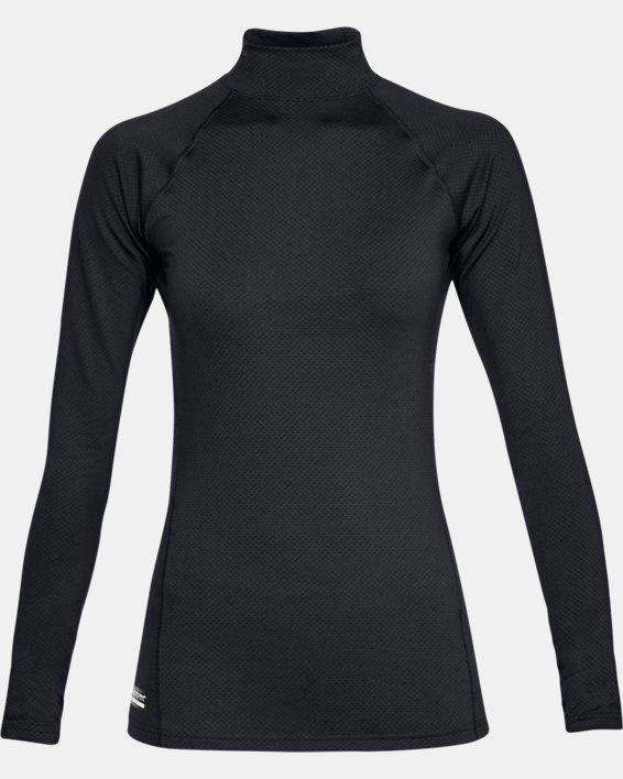 Women's UA Tactical Reactor Mock Base Long Sleeve Shirt, Black, pdpMainDesktop image number 4