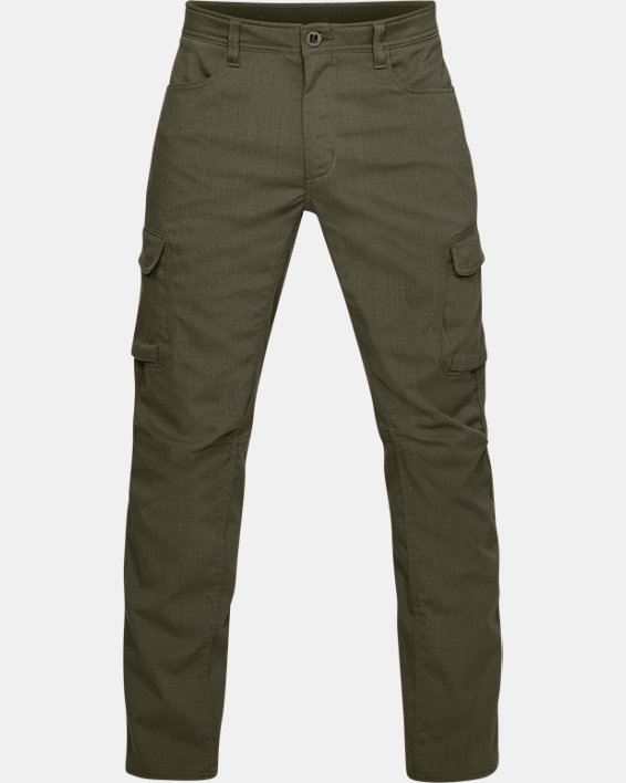 Men's UA Enduro Cargo Pants, Green, pdpMainDesktop image number 4