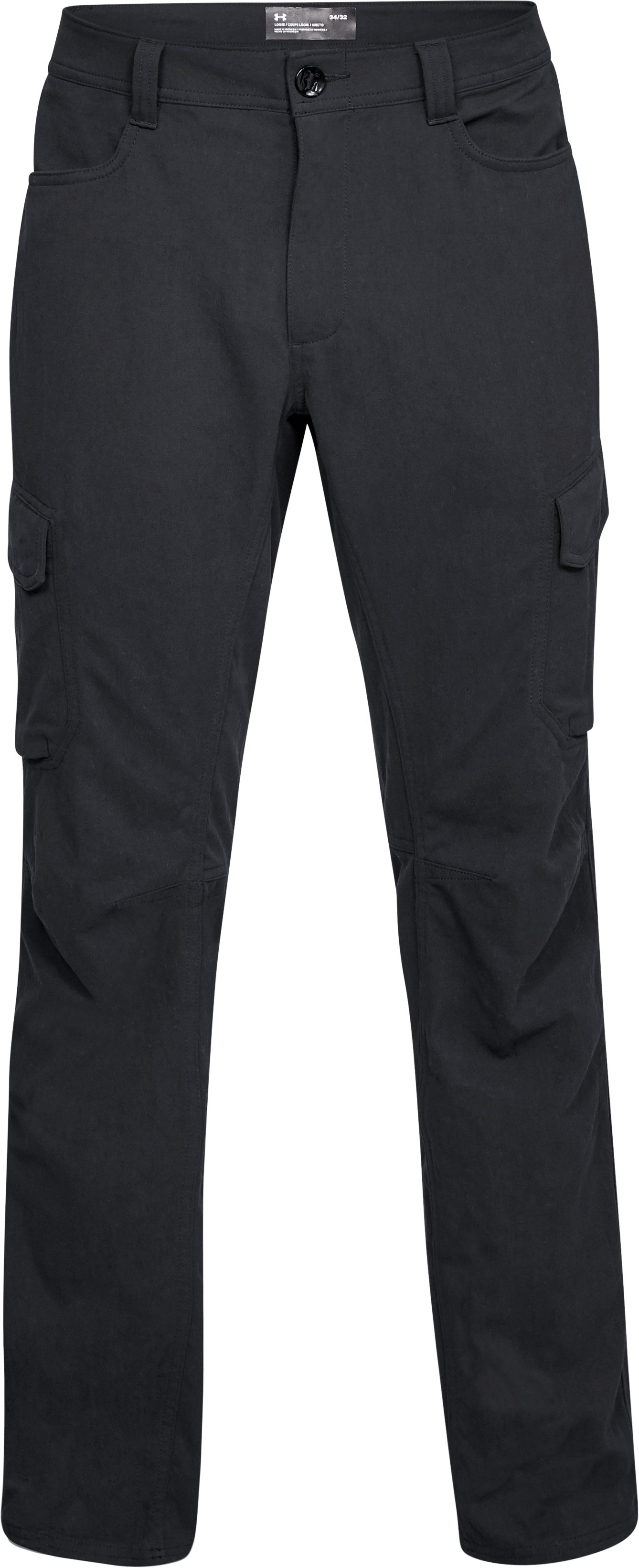 Men's UA Guardian Cargo Pants, Black ,