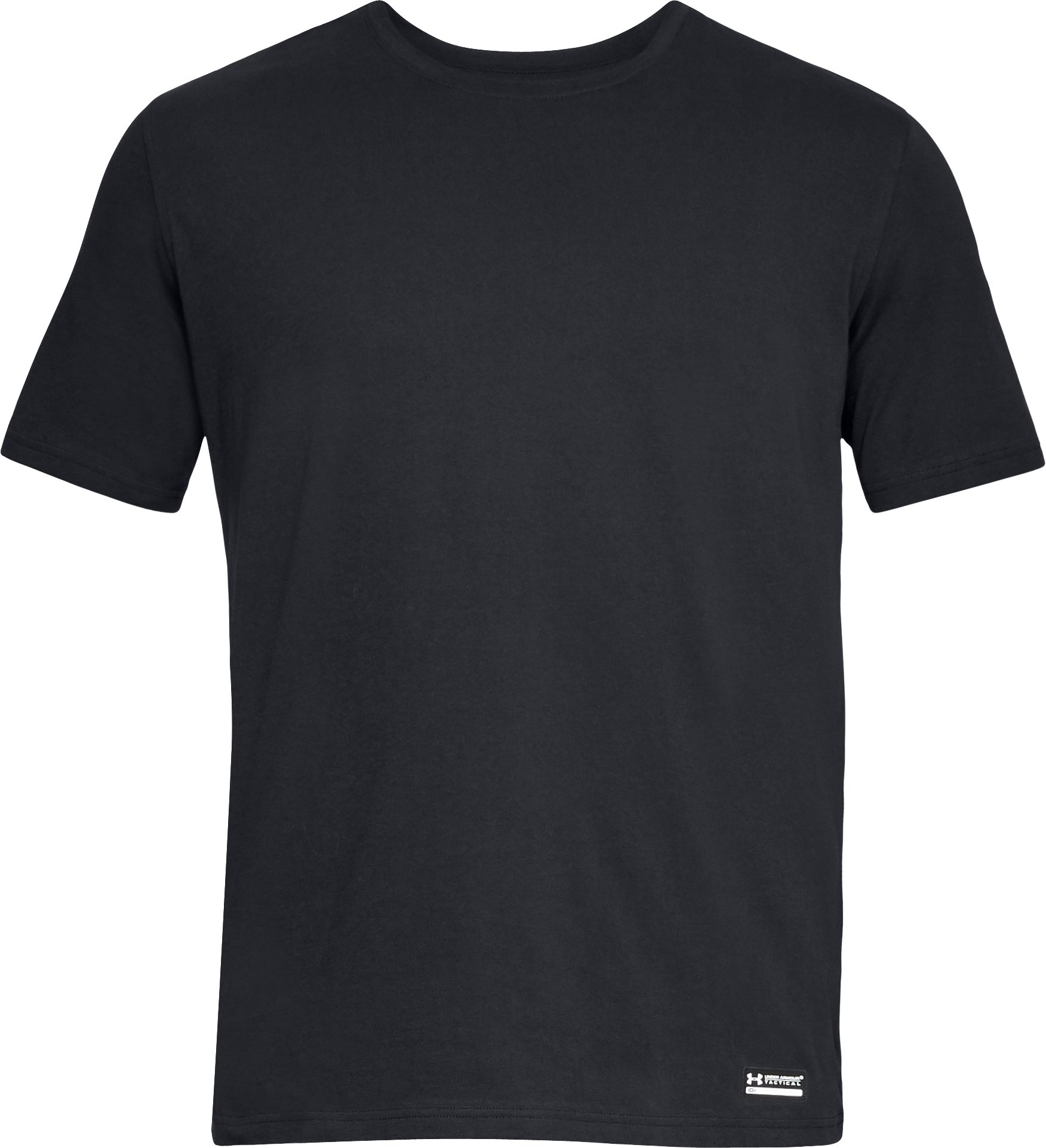 Men's UA Tac Charged Cotton® T-Shirt, Black ,