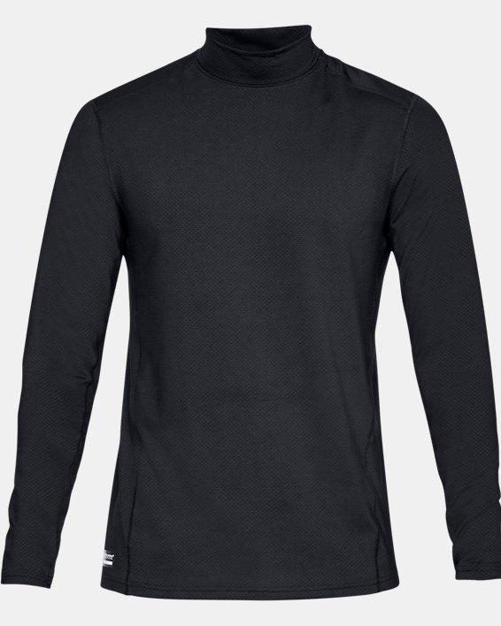 Men's UA Tactical Mock Base Long Sleeve Shirt, Black, pdpMainDesktop image number 3