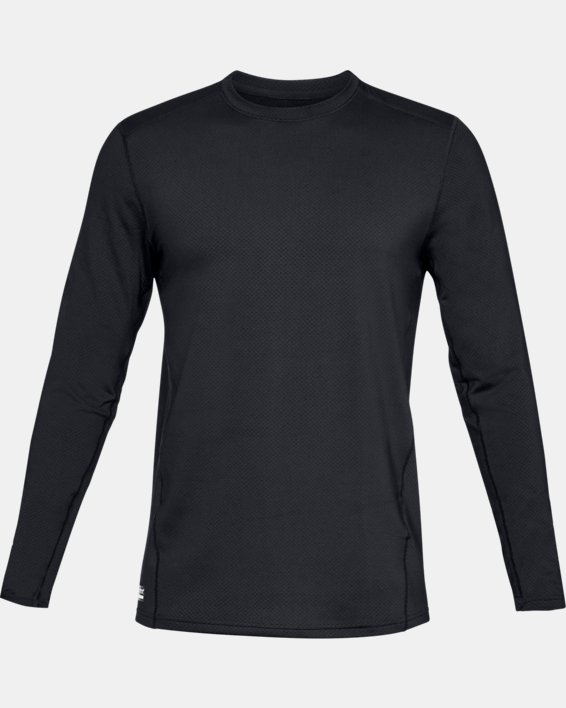 Men's UA Tactical Crew Base Long Sleeve Shirt, Black, pdpMainDesktop image number 3