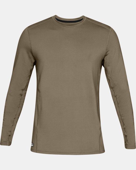 T-shirt à manches longues UA Tactical Crew Base pour homme, Brown, pdpMainDesktop image number 3
