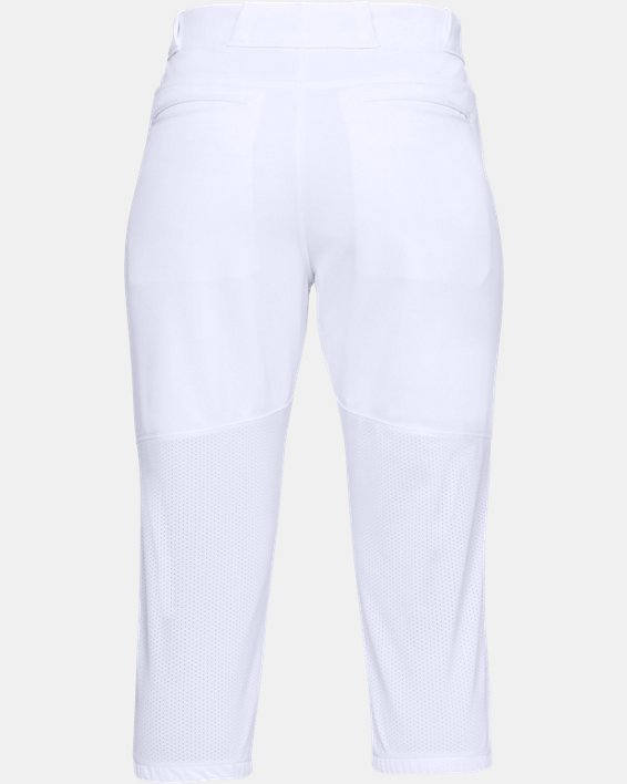 Women's UA Softball Cropped Pants, White, pdpMainDesktop image number 5