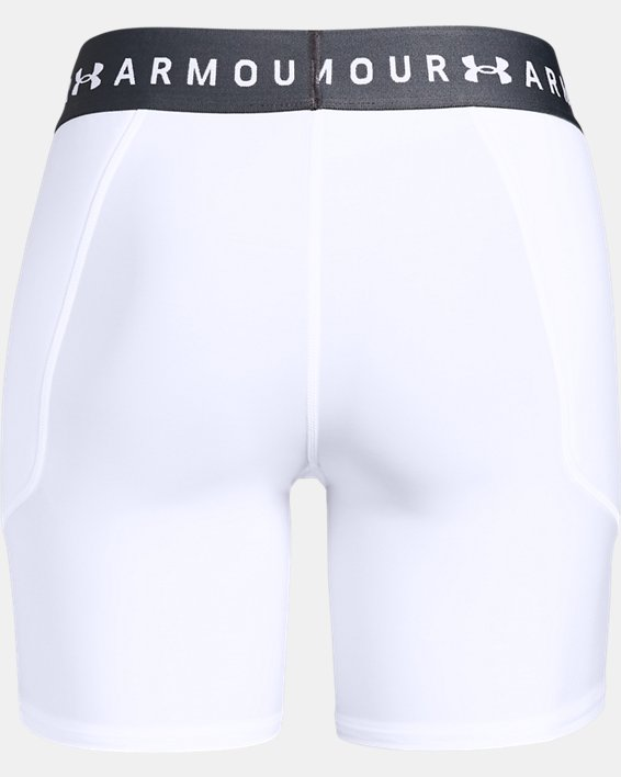 Women's UA Softball Slider Shorts, White, pdpMainDesktop image number 5
